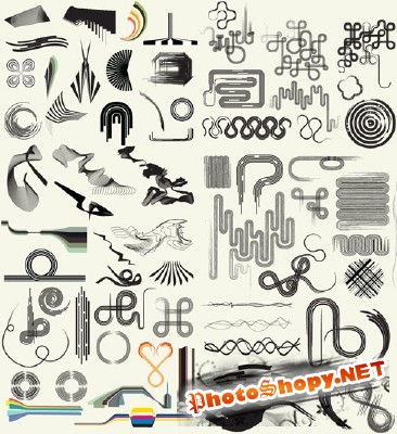 Line Art Pack 104 Brushes for Photoshop