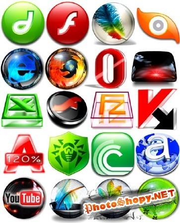 Бесплатные иконки для программ PNG