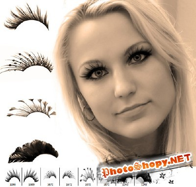 Fancy eyelashes brush set For Photoshop