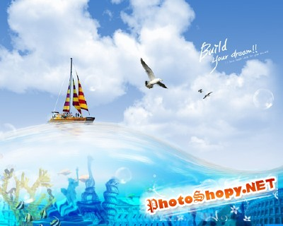Sources For Photoshop - Travel by ship