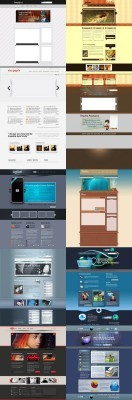 Web Templates Psd Pack 12 For Photoshop