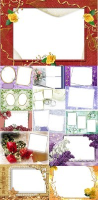 Collection of Spring Photo frames pack 6