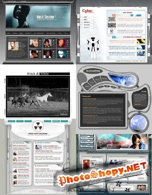 Web Templates Psd Pack 14 For Photoshop