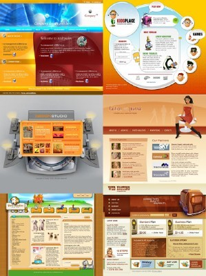 Web Templates Psd Pack 15 For Photoshop