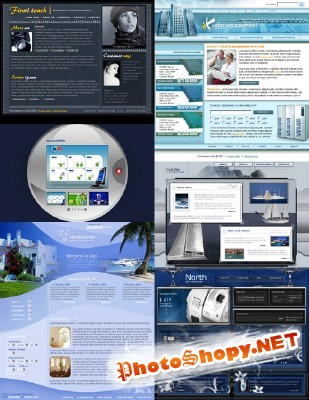 Web Templates Psd Pack 16 For Photoshop