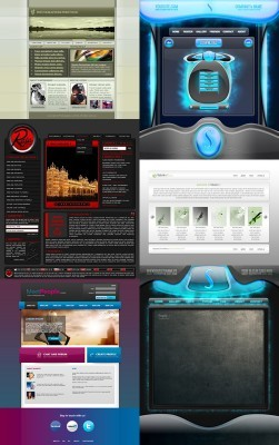 Web Templates Psd Pack 19 For Photoshop