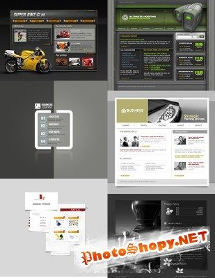Web Templates Psd Pack 21 For Photoshop