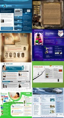 Web Templates Psd Pack 23 For Photoshop