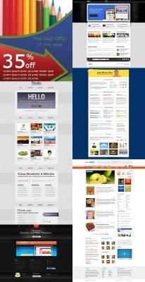 Web Templates Psd Pack 24 for Photoshop