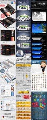 GraphicRiver Collection for Photoshop pack #6
