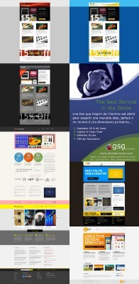 Web Templates Psd Pack 25 for Photoshop