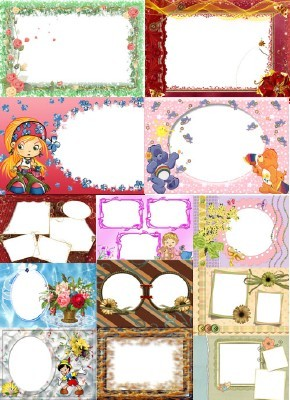 Collection of Spring Photo frames pack 7