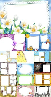 Collection of Spring Photo frames pack 9