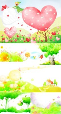 Abstract Spring Psd Backgrounds pack 4 for Photoshop