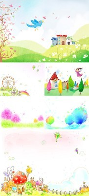 Abstract Spring Psd Backgrounds pack 5 for Photoshop
