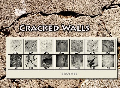 Cracked  Wall Brushes