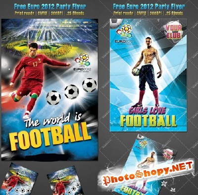 Euro 2012 Party Flyer Template
