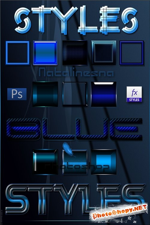 ������� �����  ��� Photoshop / Blue Styles Photoshop