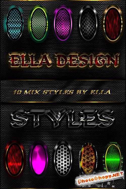 Mix стили для дизайна в Photoshop