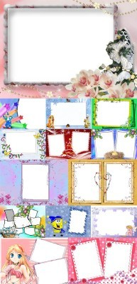 Collection of Spring Photo frames pack 16