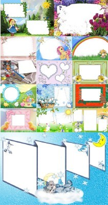 Collection of Spring Photo frames pack 15