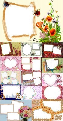 Collection of Spring Photo frames pack 17