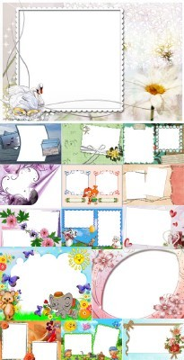 Collection of Spring Photo frames pack 19
