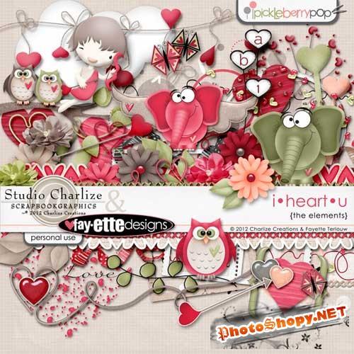 Романтичный скрап набор - Моё сердце йокнет