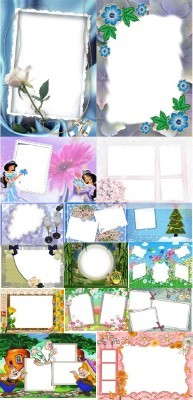 Collection of Spring Photo frames pack 29