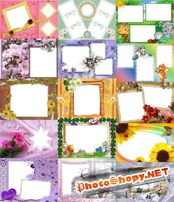 Collection of Spring Photo frames pack 32