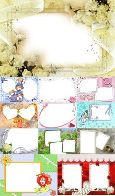 Collection of Spring Photo frames pack 38