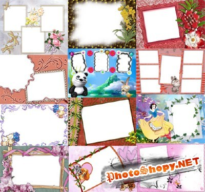 Collection of Spring Photo frames pack 39