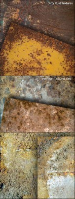 Iron Rust Textures Set