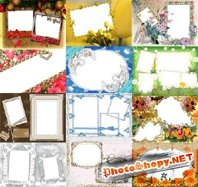 Collection of Spring Photo frames pack 44
