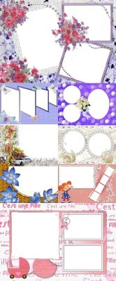 Collection of Spring Photo frames pack 46