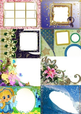 Collection of Spring Photo frames pack 50