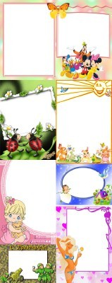 Collection of Spring Photo frames pack 60