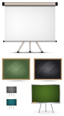 Blackboard Templates Psd