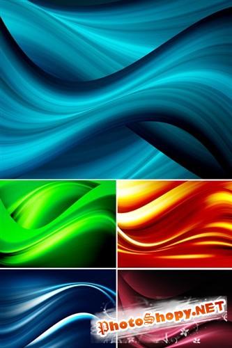 Абстрактные пятицветные волнистые фоны (HQ)
