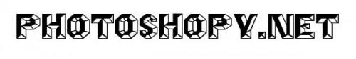 Шрифты для Фотошоп - Angles Octagon