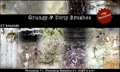 Grungy and Dirty Brushes