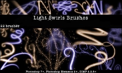 Light Swirls Brushes Set