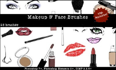 Makeup Face Sketches Brushes Set