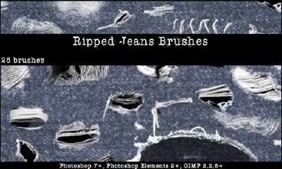 Ripped Torn Jeans Brushes Set