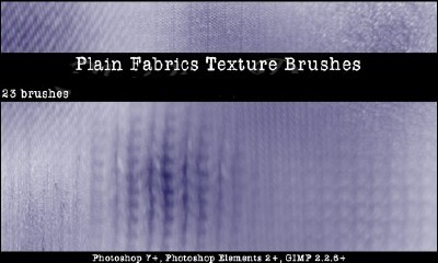 Plain Fabric Photoshop Brushes