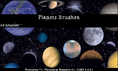 Planets Photoshop Brushes Set