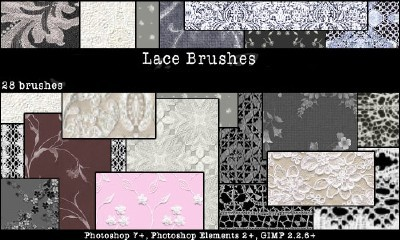 Lace Brushes Set
