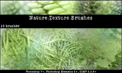 Nature Textures Brushes Set