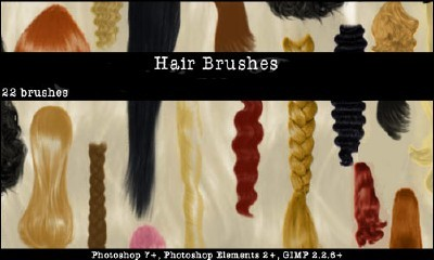 Hair Photoshop Brushes Set