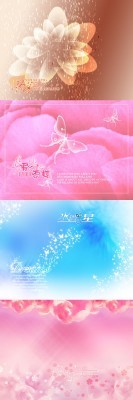 Flowers Backgrounds Psd Template